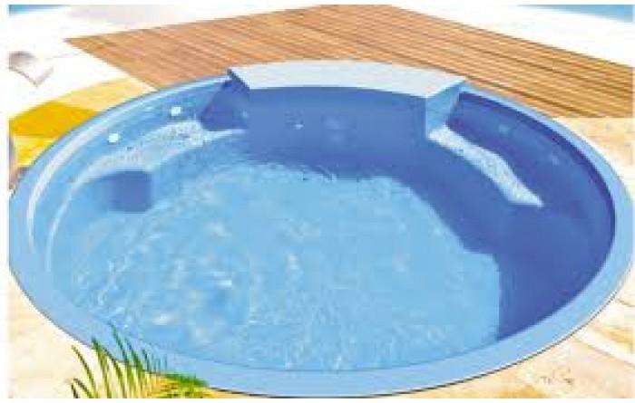 Piscina fibratec linha spa ilha redonda piscinas produtos - Piscina redonda fibra ...